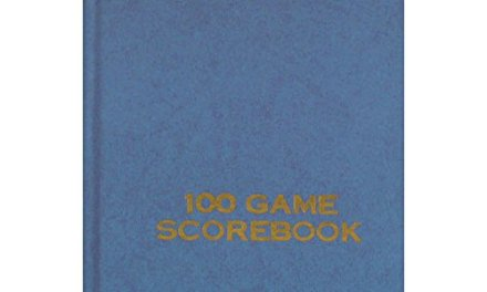 Wholesale Chess Hard Cover Scorebook (Blue)