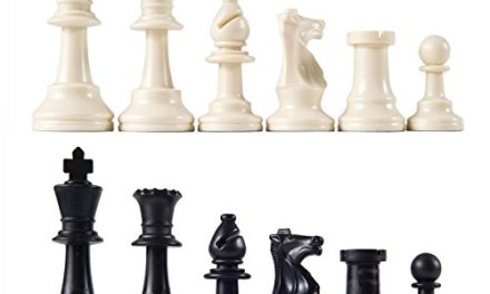 Heavy Tournament Triple Weighted Chess Pieces with 3 3/4″ King