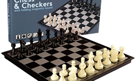 2 in 1 Travel Magnetic Chess and Checkers Set – 12.5""