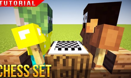 Minecraft – HOW TO MAKE A CHESS SET & PLAYERS !!