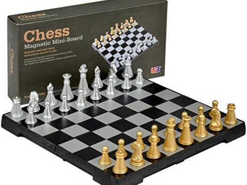 Yellow Mountain Imports Travel Magnetic Chess Mini-Set