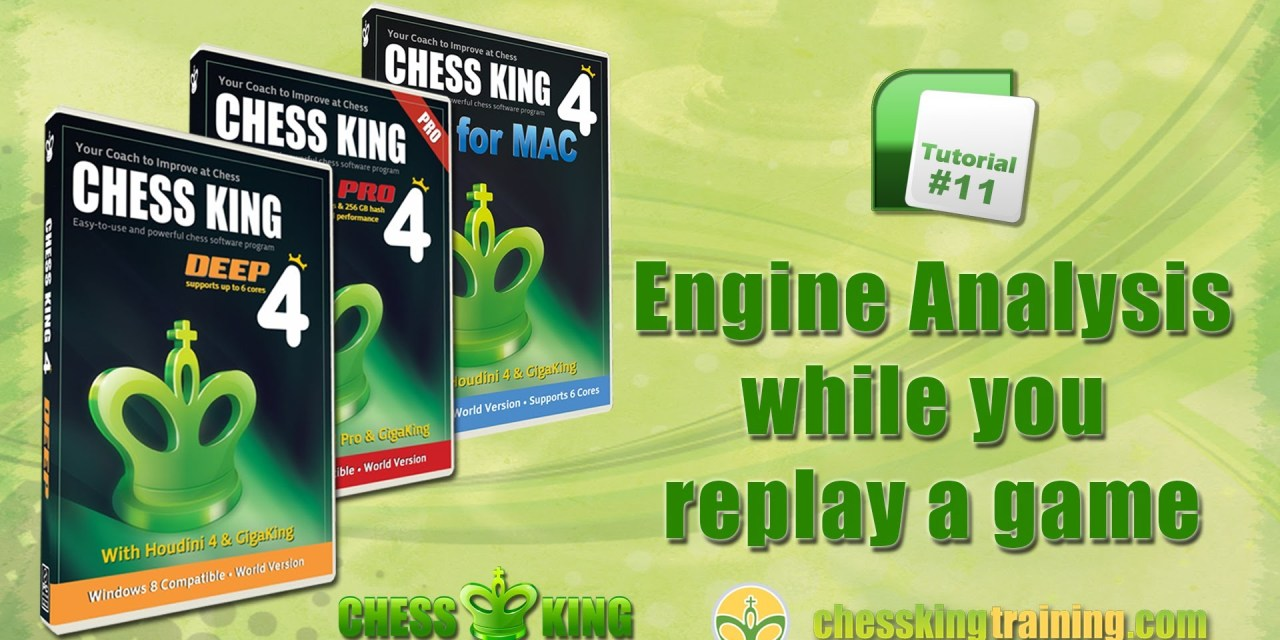 Chess King 4 Tutorial 11 – Houdini Analysis during replay in Chess King 4 for PC/Mac