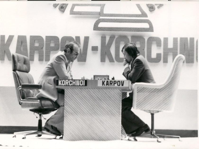 Viktor Korchnoi vs. Anatoly Karpov in Baguio City, Philippines, in 1978 World Championship.