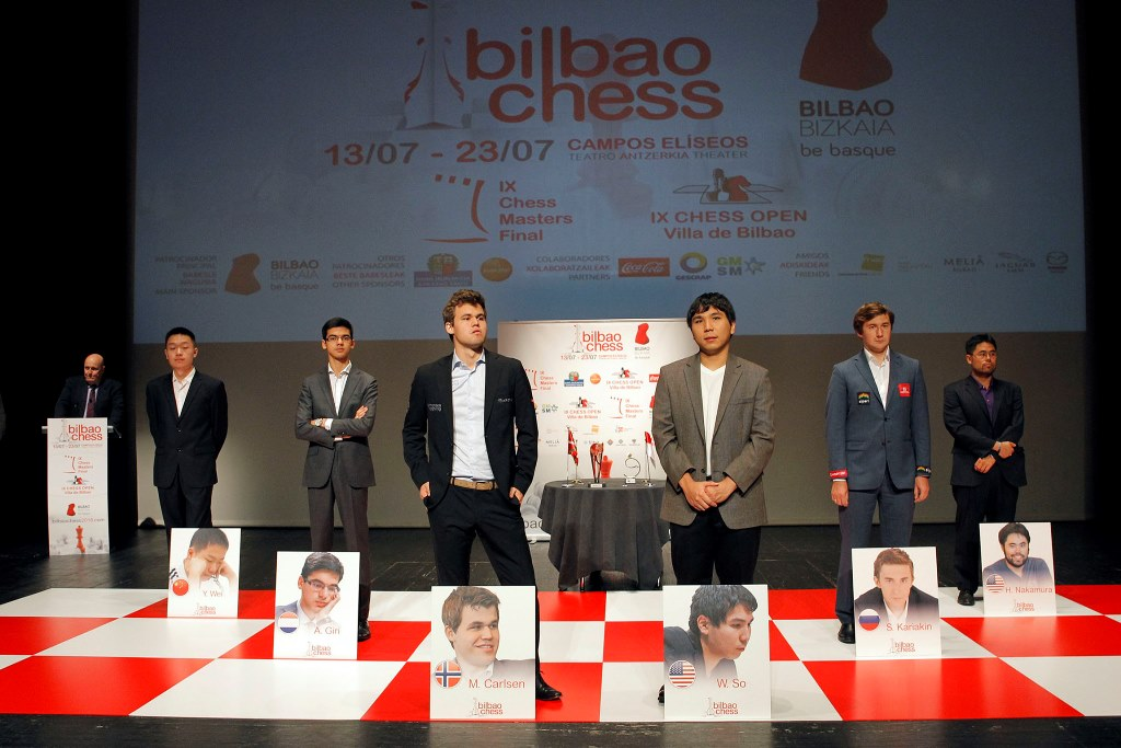 Nakamura Wins in Round 1 vs. Carlsen of Bilbao Masters Final 2016