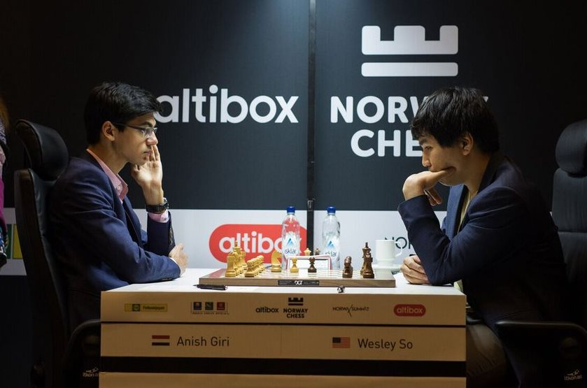 Anand and Aronian win in Round 6 Norway Chess 2017