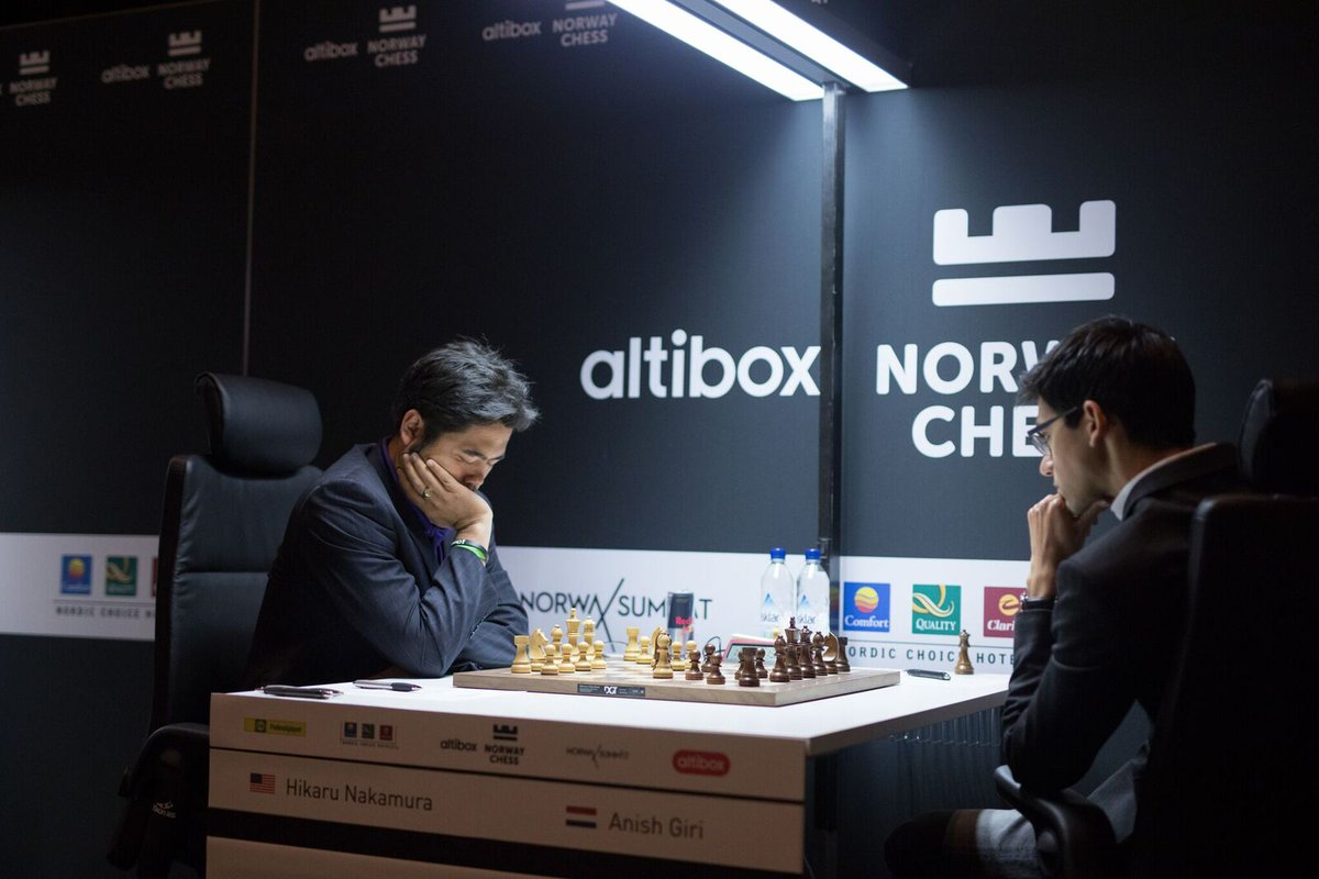 Nakamura draws first blood in Round 1 Norway Chess 2017