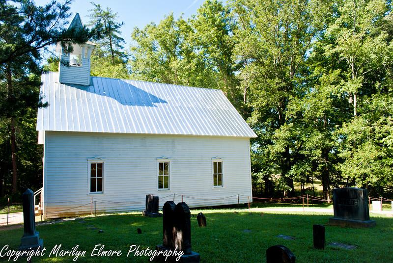 Early 19th century church and yard.
