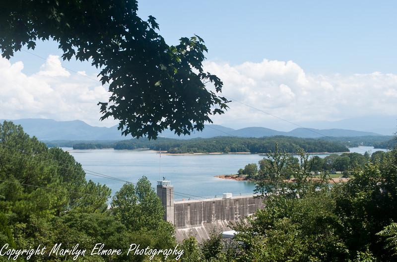 Douglas Dam and Lake, near Pidgin Forge TN.