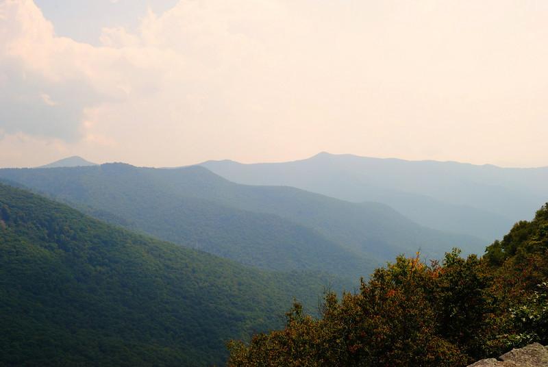 View from Glassmine Falls overlook.