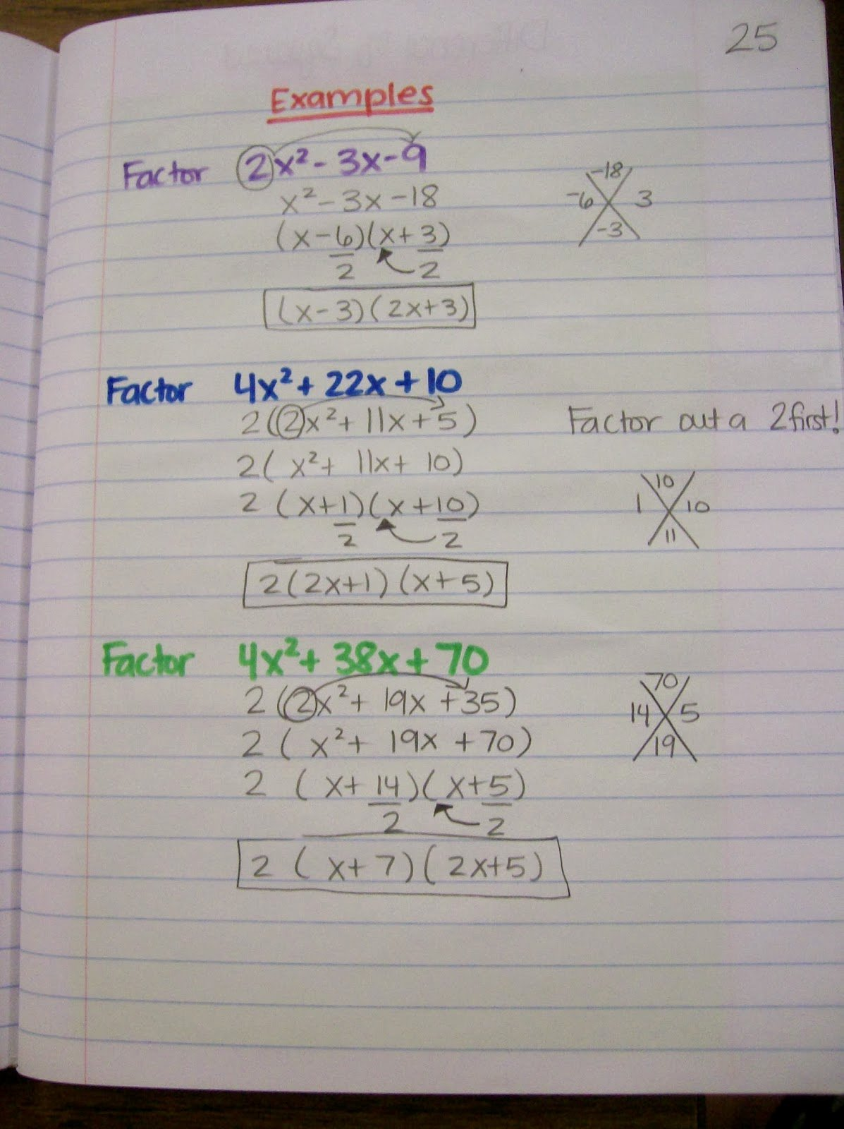 50 Algebra 1 Factoring Worksheet