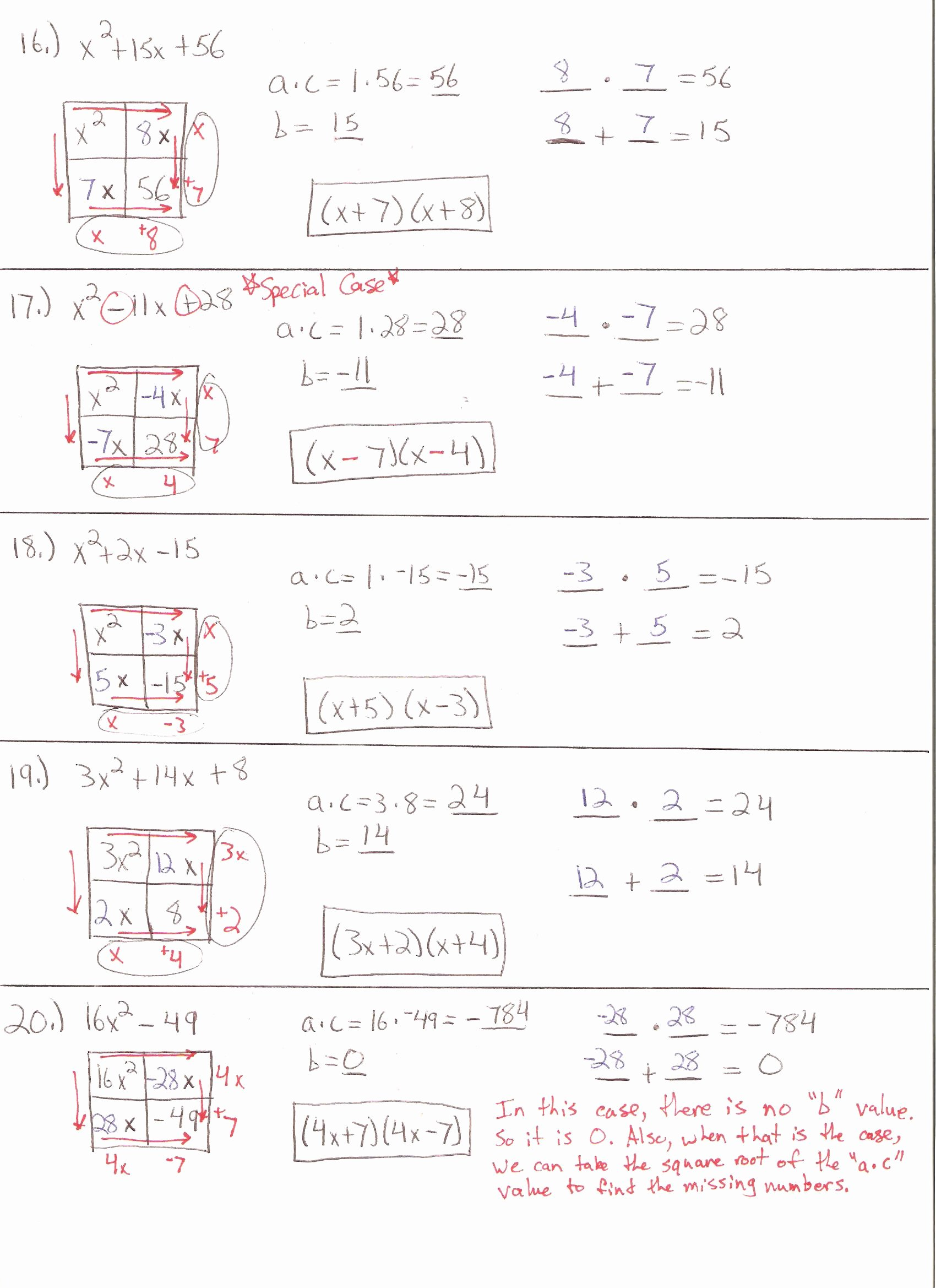 50 Algebra 2 Review Worksheet