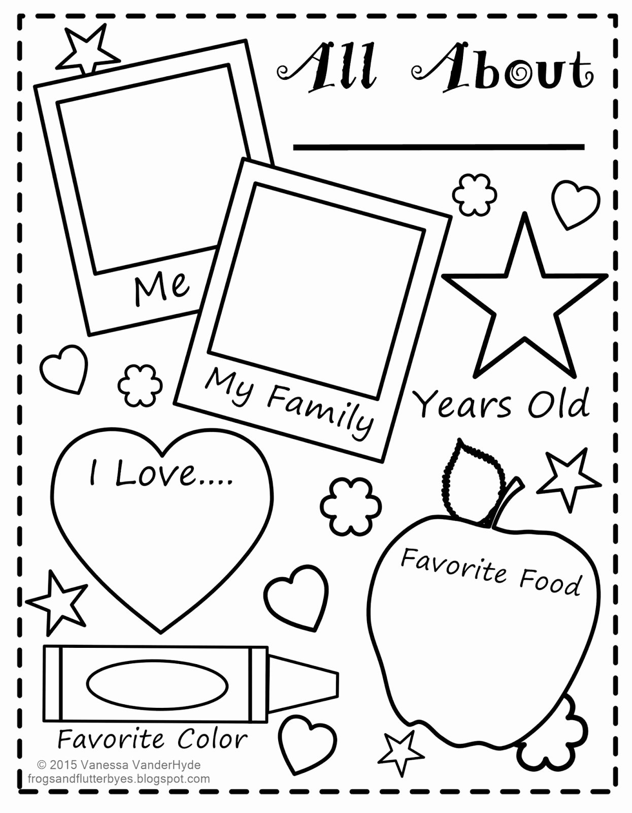 49 All About Me Worksheet Preschool