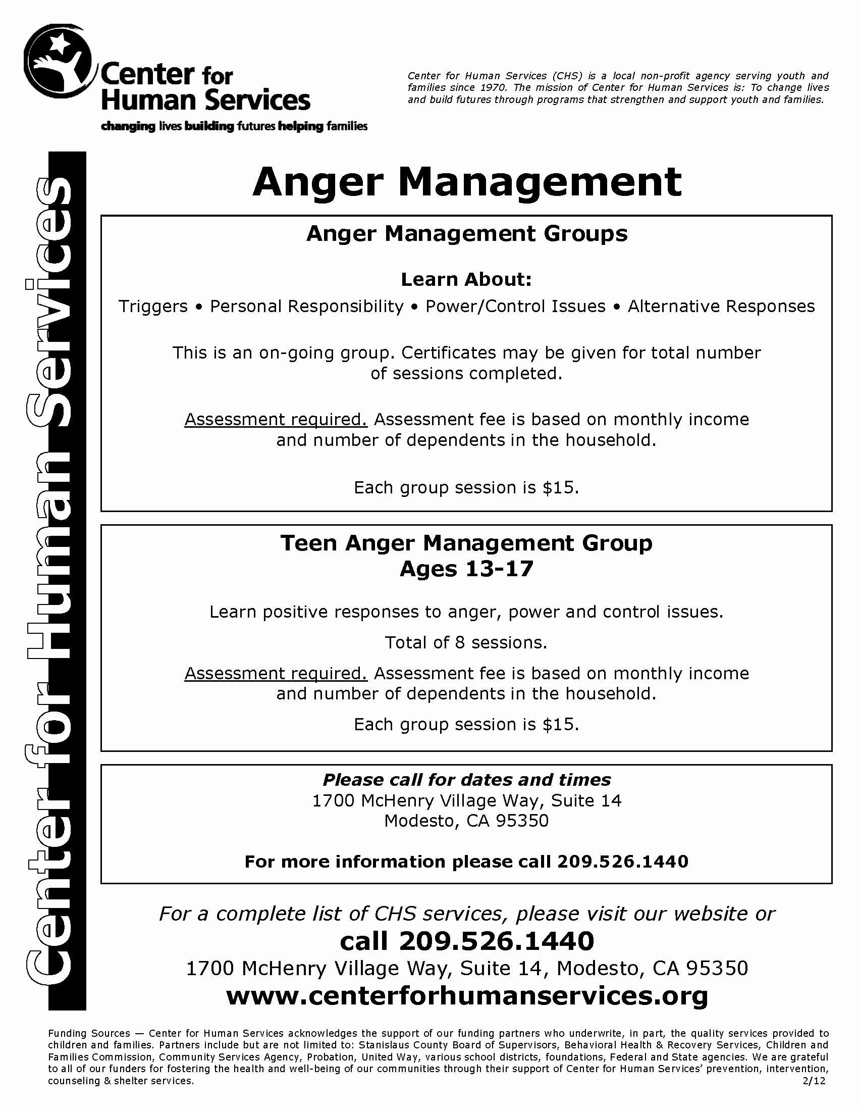 50 Anger Management Worksheet For Teens