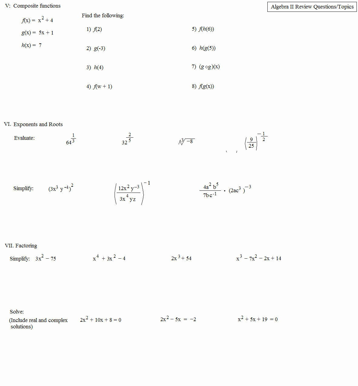 50 Complex Numbers Worksheet Answers