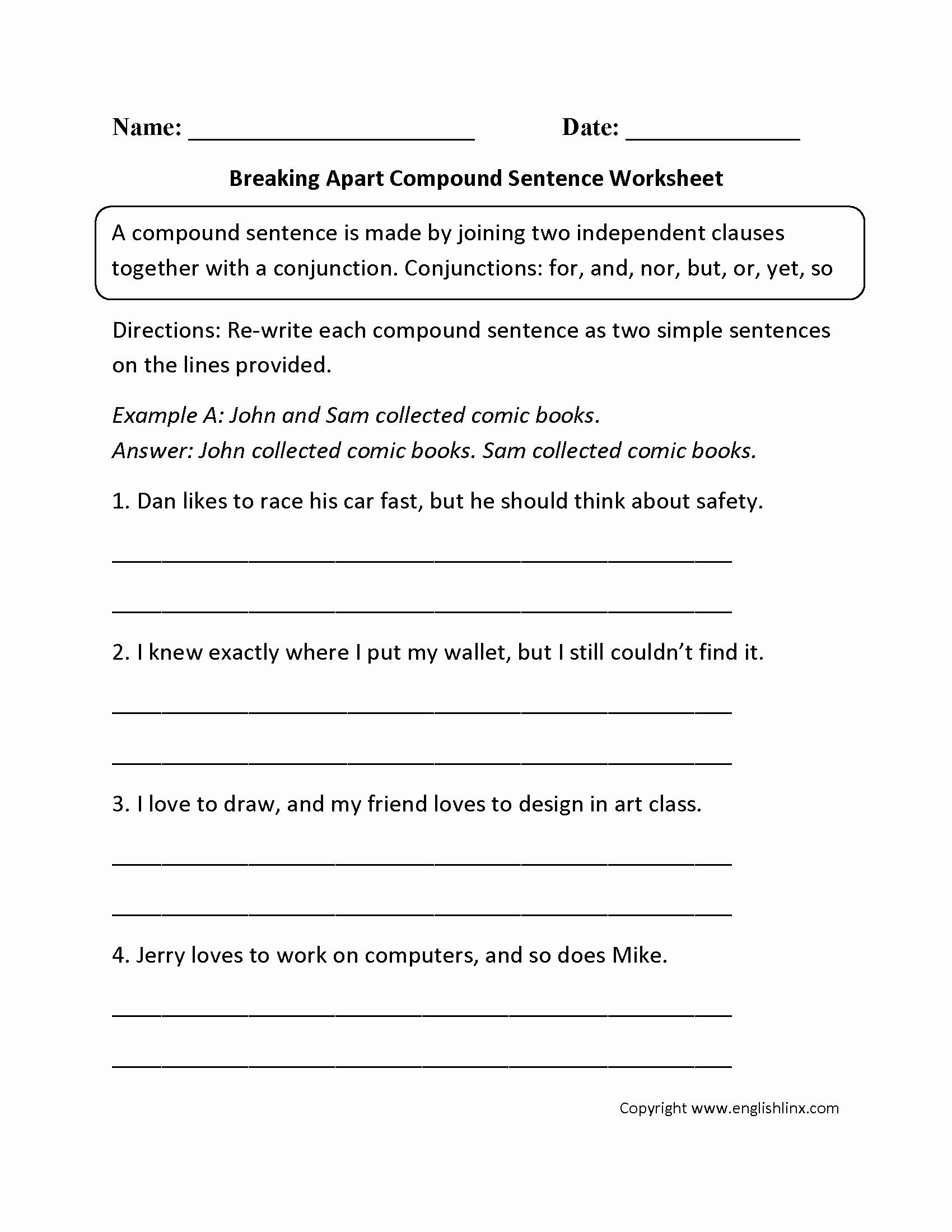 49 Compound And Complex Sentences Worksheet