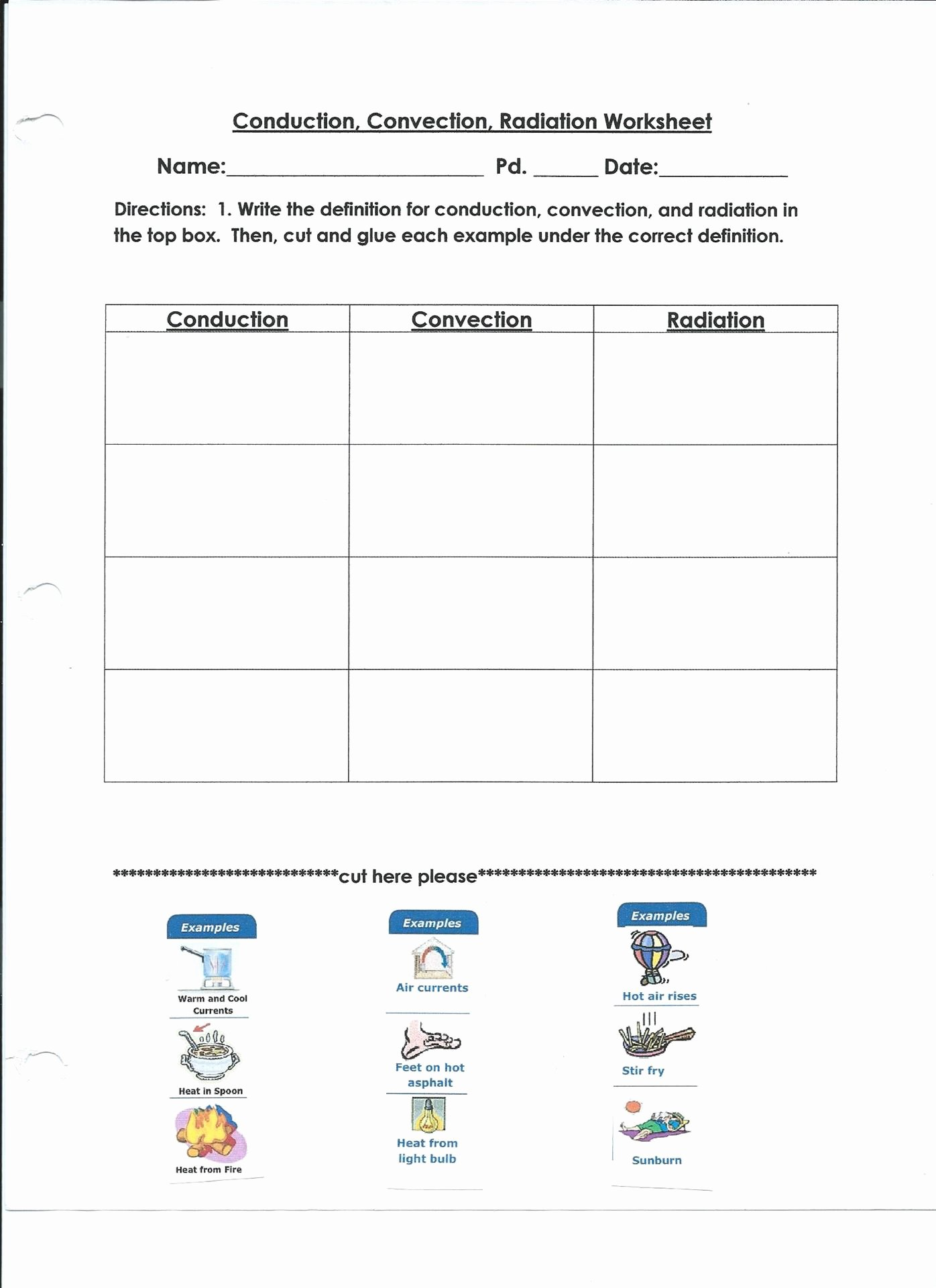 50 Conduction Convection Radiation Worksheet