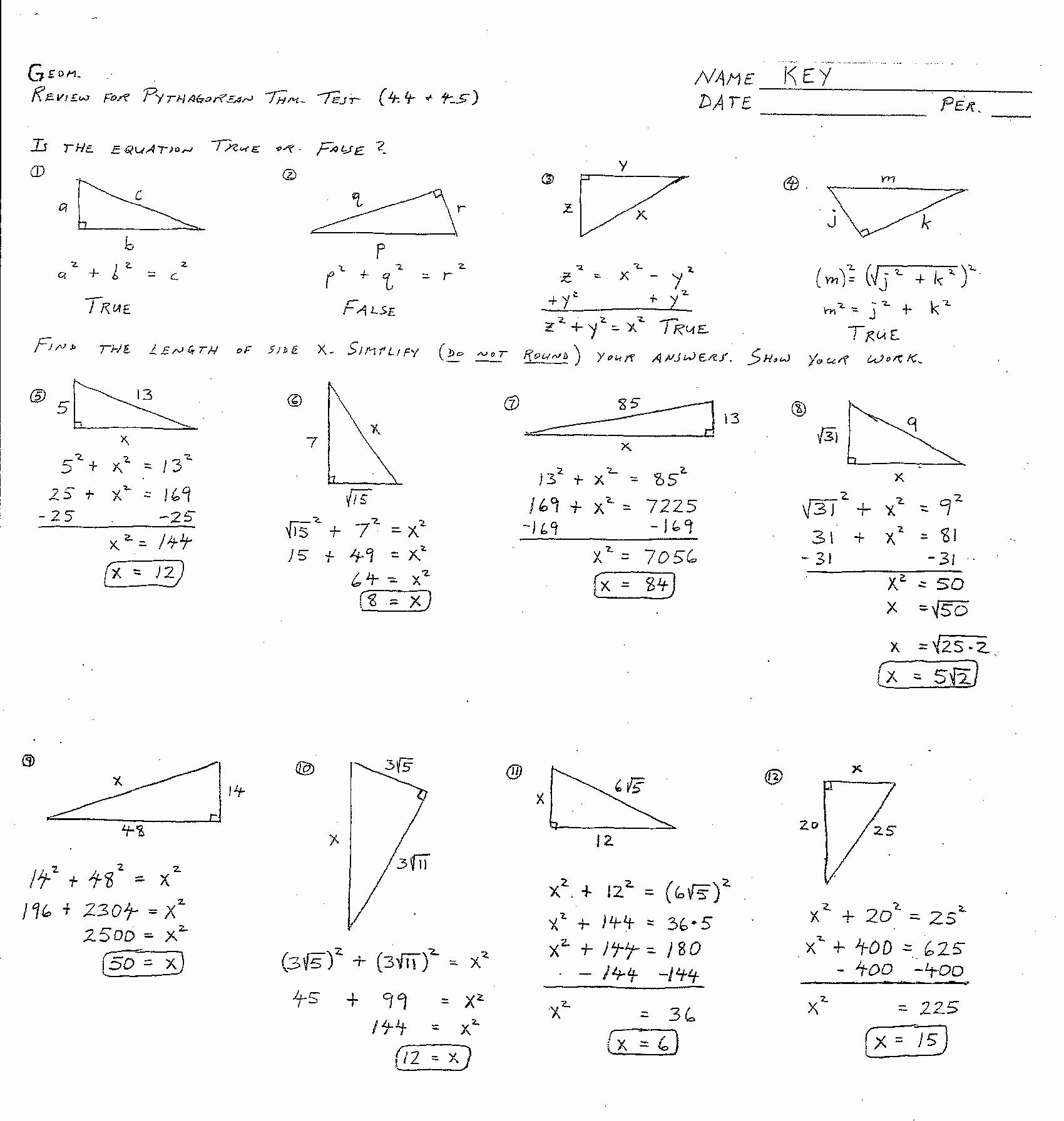 50 Congruent Triangles Worksheet Answer Key