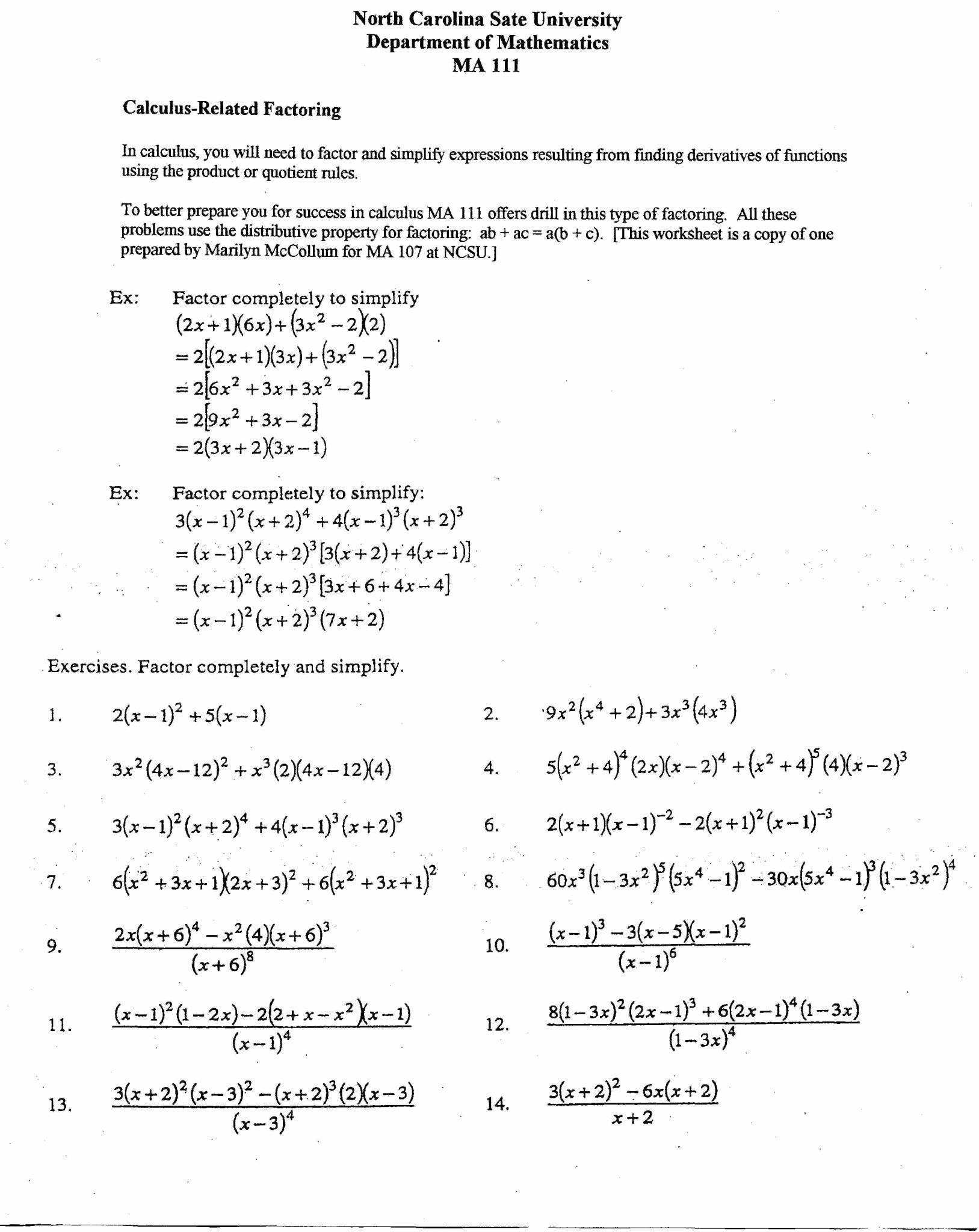 50 Distributive Property Worksheet Answers