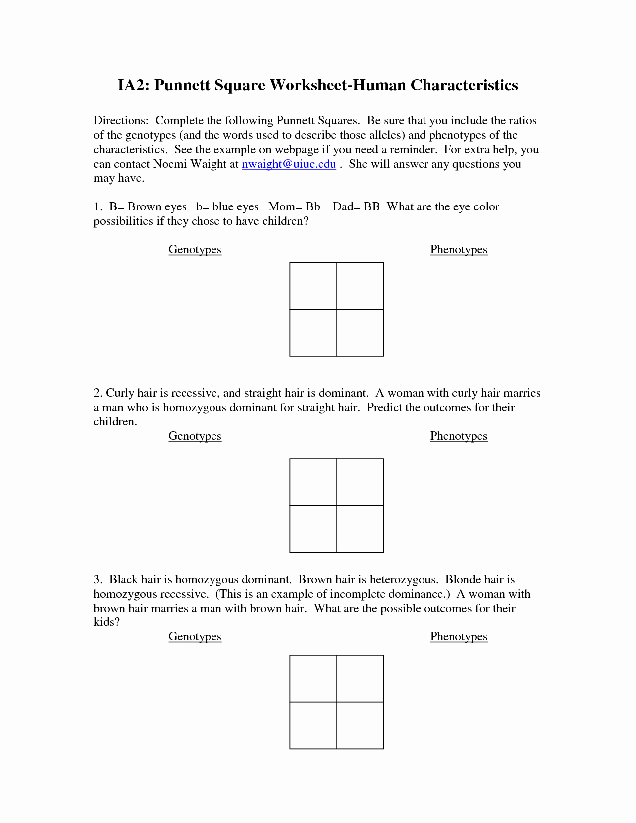 50 Genetics Problems Worksheet Answers