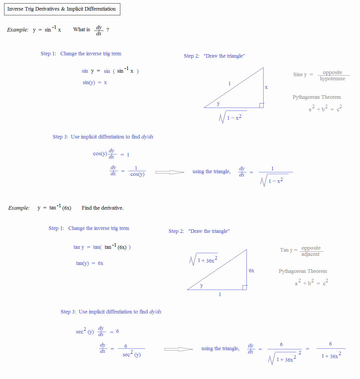 50 Inverse Trigonometric Functions Worksheet