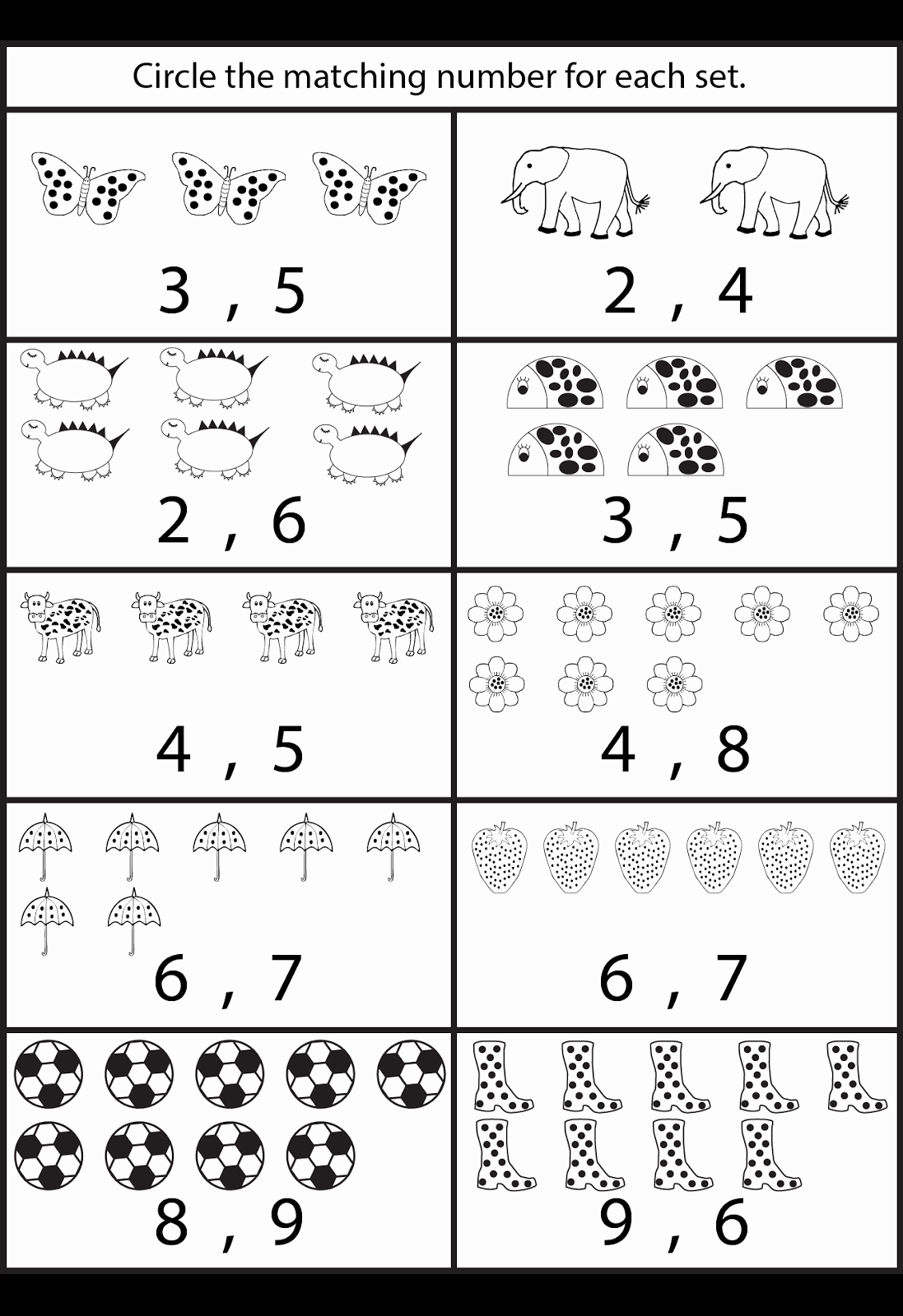 50 Kindergarten Math Worksheet