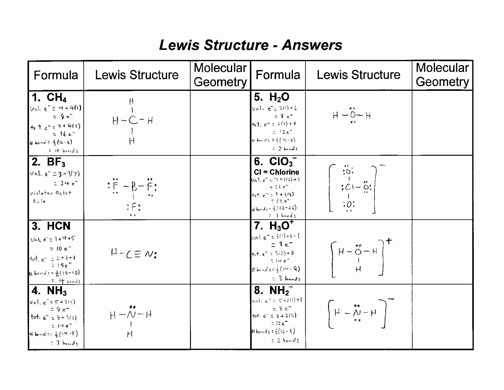 46 Lewis Dot Diagram Worksheet