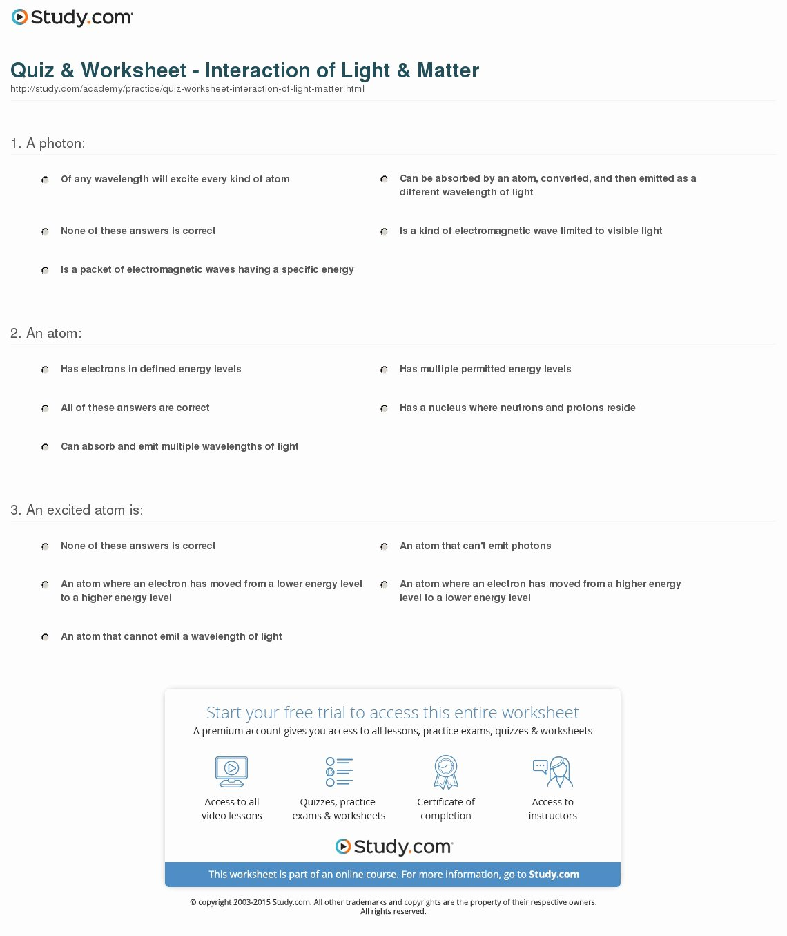 50 Matter And Energy Worksheet