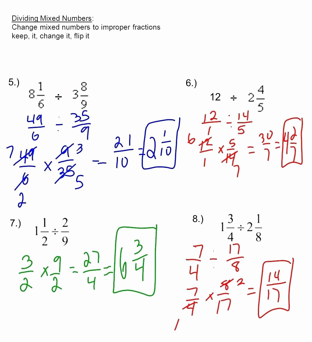 50 Multiplying Mixed Numbers Worksheet