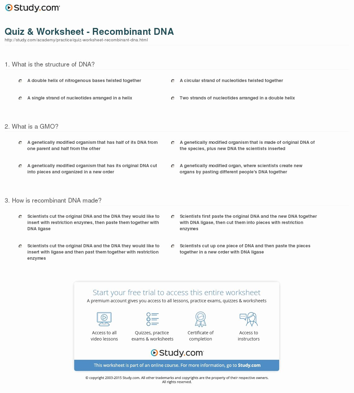 50 Nucleic Acid Worksheet Answers