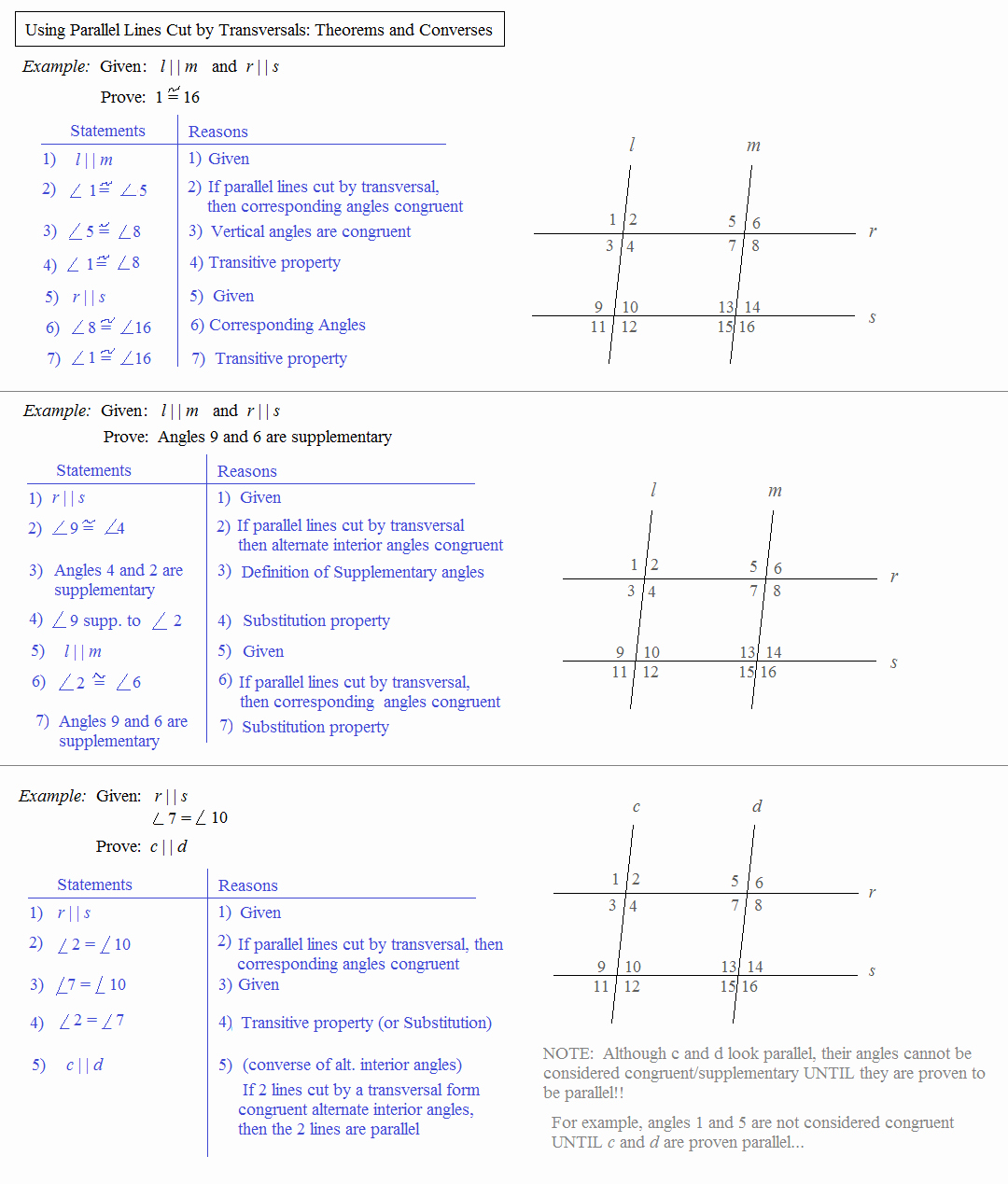 50 Parallel Lines Proofs Worksheet Answers