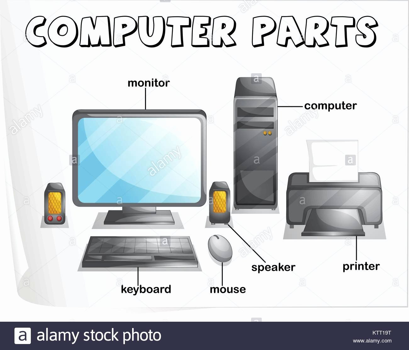 50 Parts Of A Computer Worksheet