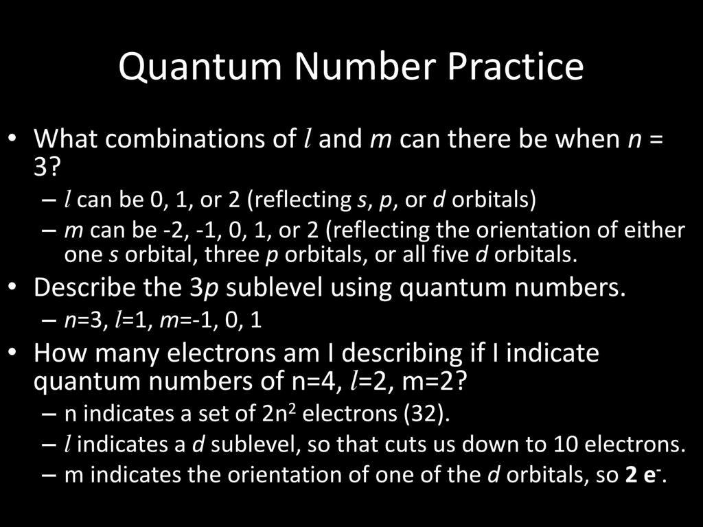 50 Quantum Numbers Practice Worksheet