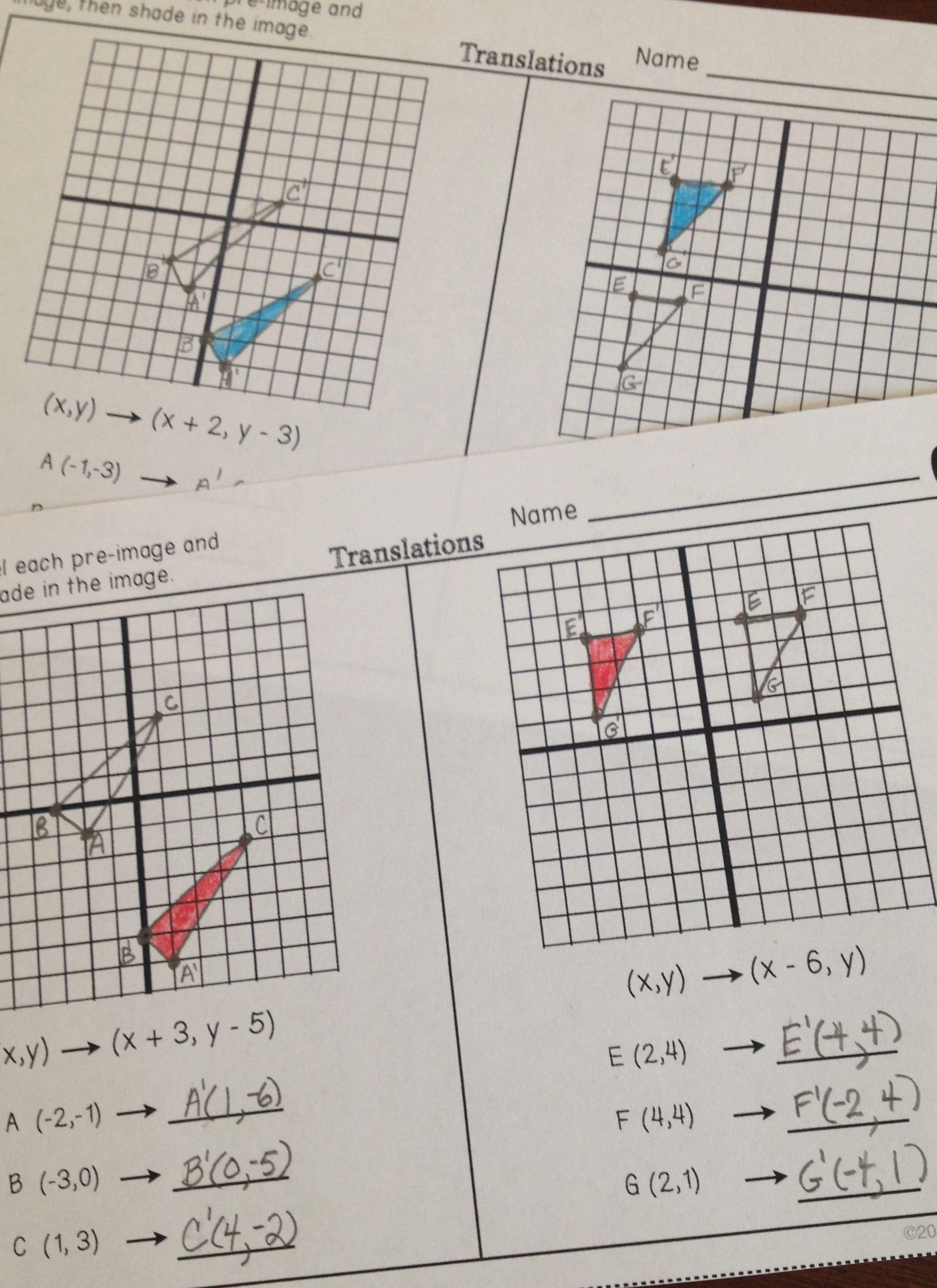 Rotations Worksheet 8th Grade New Rotation Worksheets
