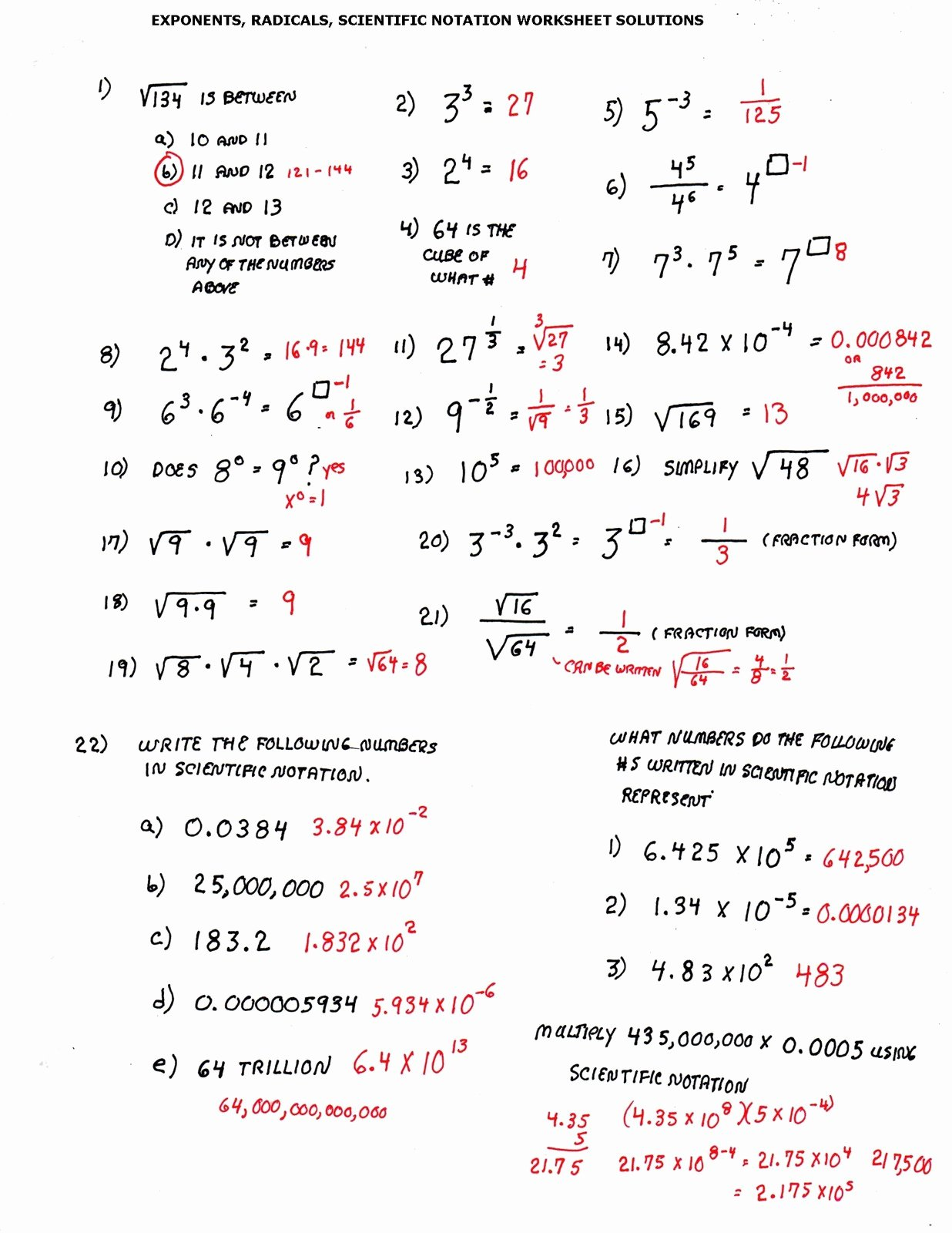 50 Scientific Notation Worksheet 8th Grade