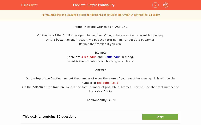 50 Simple Probability Worksheet