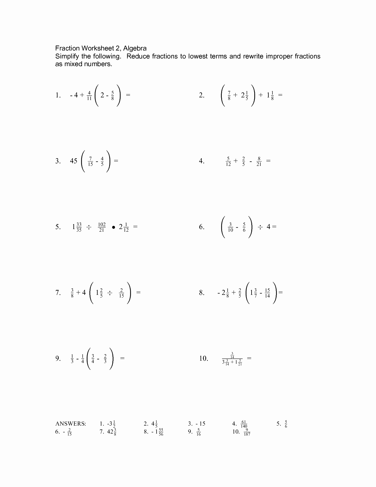 49 Simplifying Algebraic Expressions Worksheet Answers