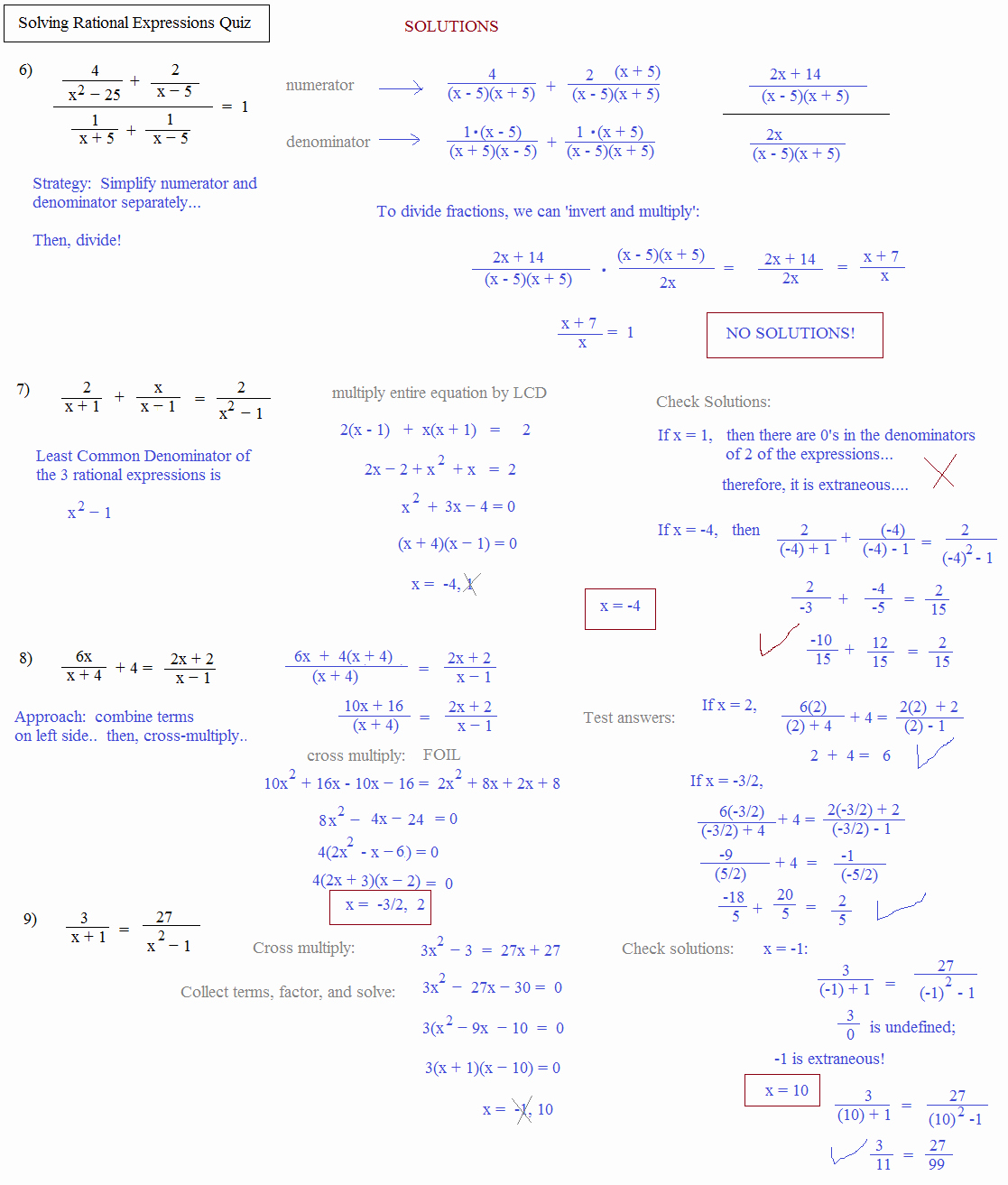 50 Simplifying Rational Expressions Worksheet Answers