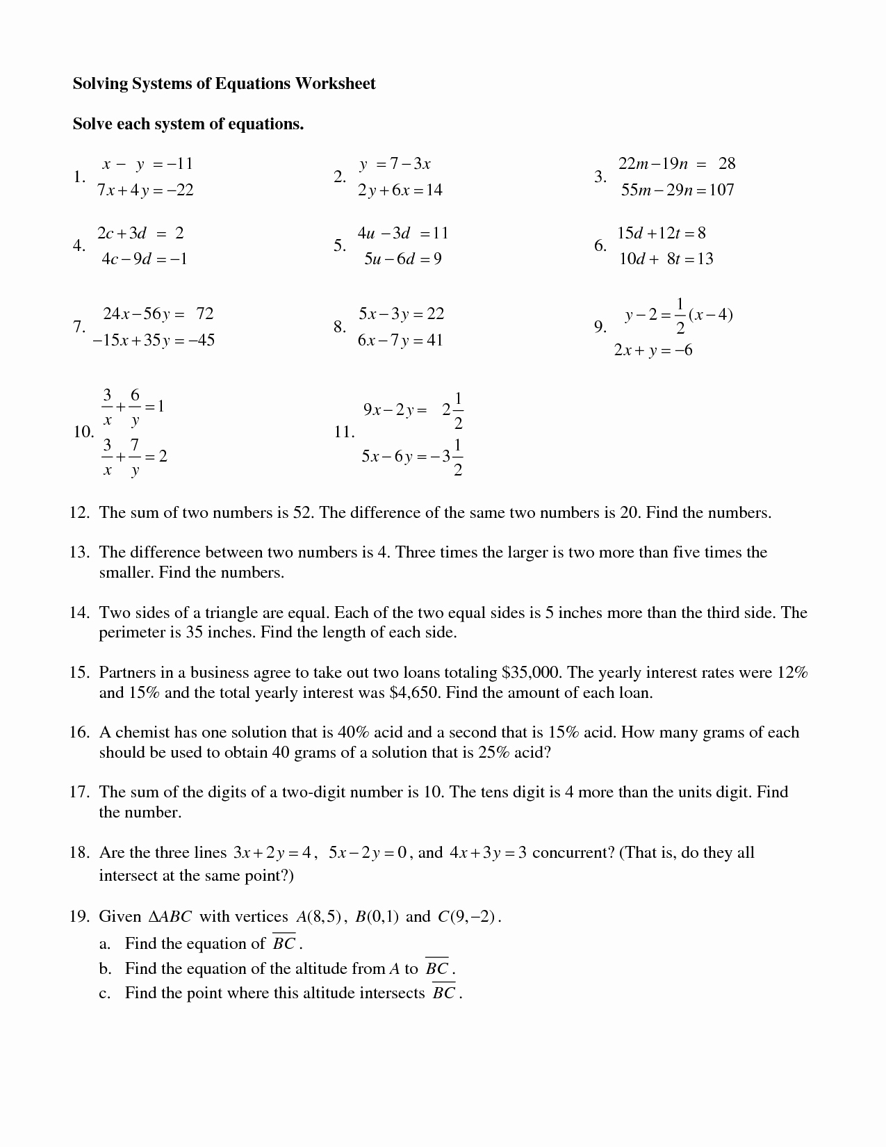 50 Solving System By Elimination Worksheet