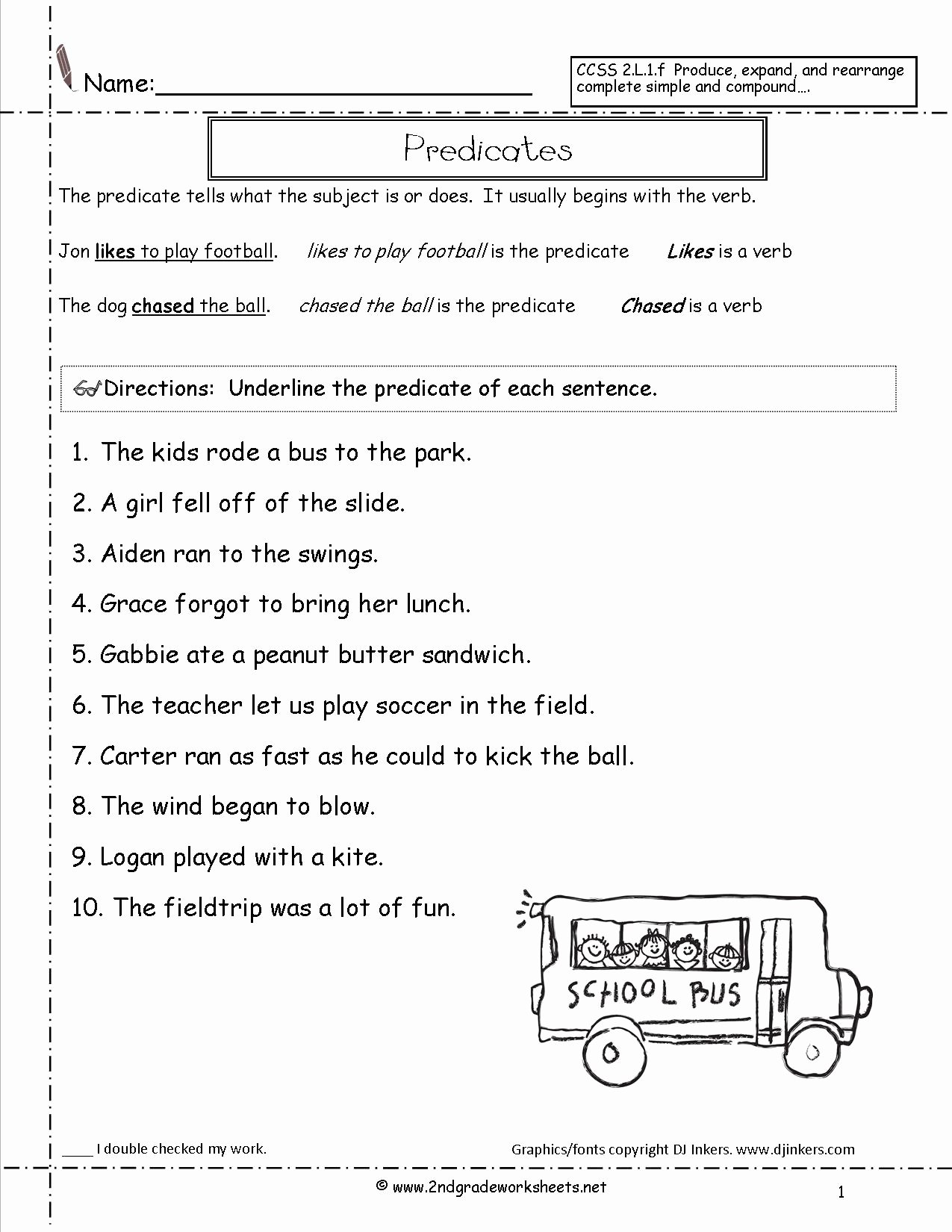 Subjects And Predicates Worksheet Awesome Sentences