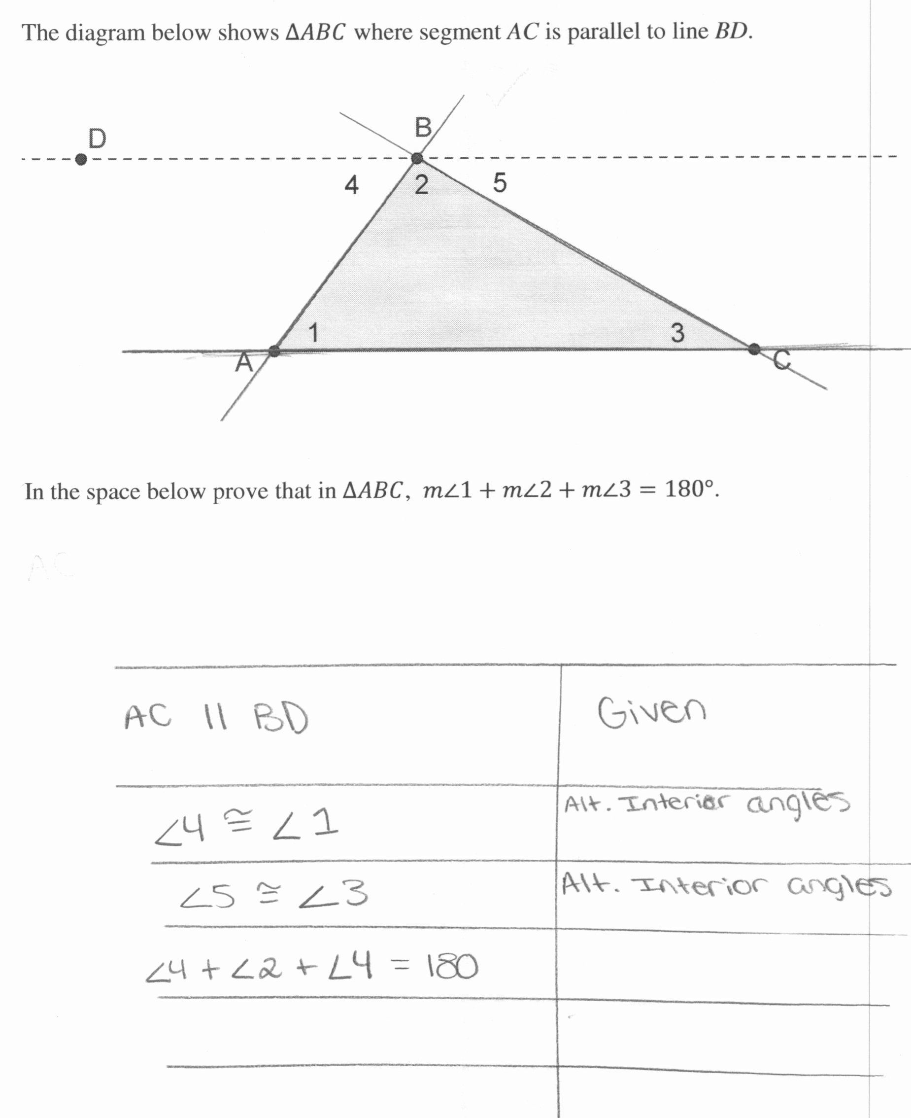 50 Triangle Interior Angles Worksheet Answers