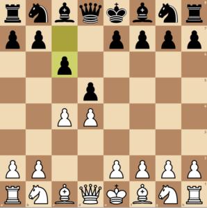 Black has played c6