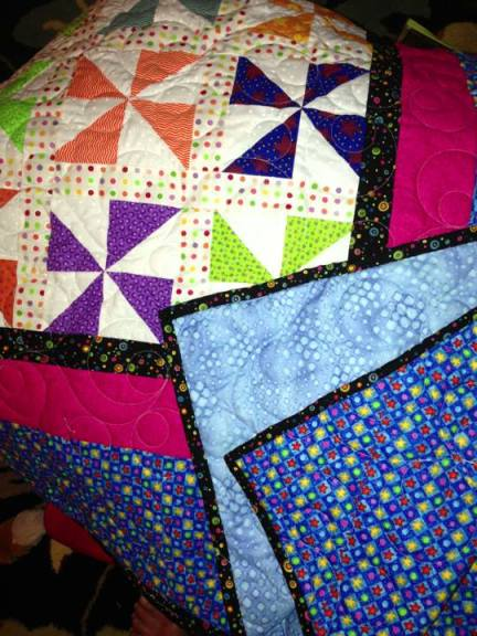 Not one of mine. Made by a friend of mine for her granddaughter. A modern quilt that captured the vintage essence I love.