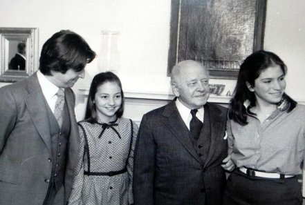 My sister and I with Riccardo Muti and Eugene Ormandy. Sometime in the late 1970s or maybe 1980