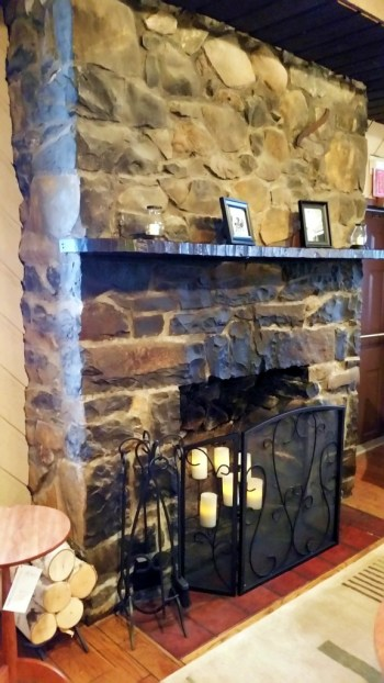 Covered Wagon Inn fireplace. Photo courtesy of Pattye Benson Community Matters