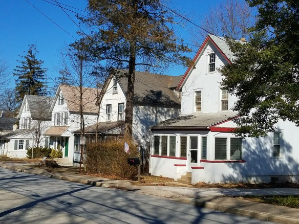 "Sadly, these are the four ""Seven Sisters"" houses on Chestnut Road slated for demolition to make way for a multi-story apartment building. ~Pattye Benson Community Matters Photo"