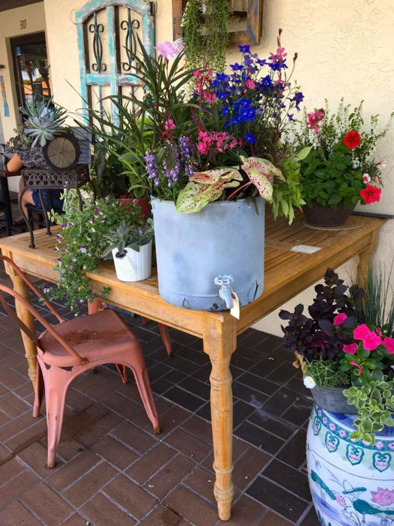 Antique outdoor table