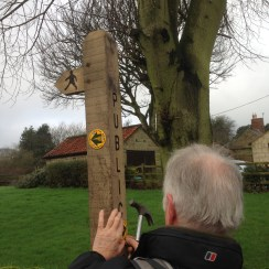 A bit of Chesterfield Round Walk maintenance en route in Heath