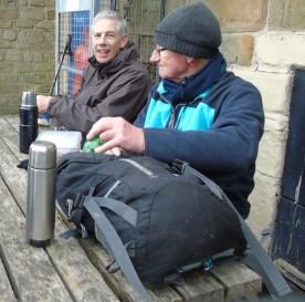 Gordon and Derek at lunch in Longnor
