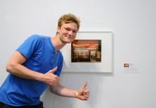 """Merit award honouree Niels Lucke with his work """"Glory Foods""""."""