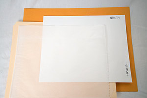 8x10 Filter Packaging: Filter in Glassine in Folder in Envelope